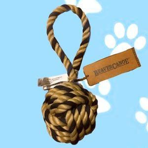 Beaver Canoe Rope Ball Dog Toy
